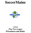 SoccerMaine 2015 Rule Book Cover