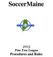 SoccerMaine 2015 Rule Book Cover